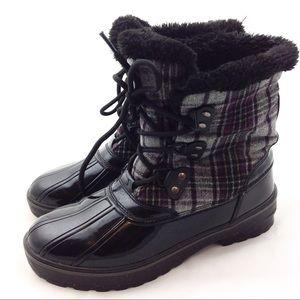 Bass Plaid Snow Bird Winter Boots 9 - N507